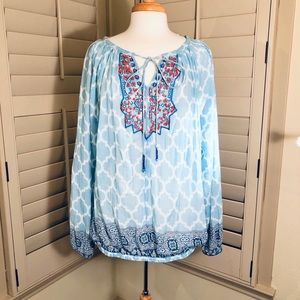 NWOT Sundance special collection beaded blouse